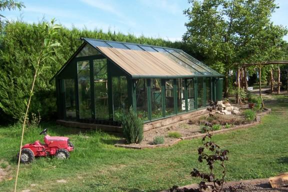 La serre for Construire serre de jardin